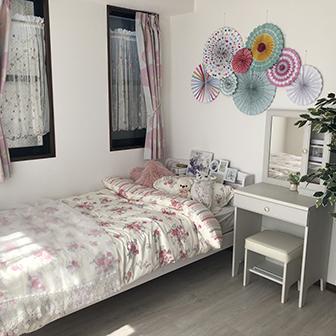 6F 花柄ベッドカバー